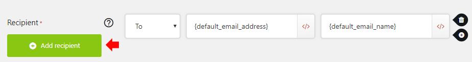 Click Add recipient