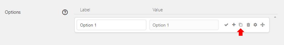 Duplicate option