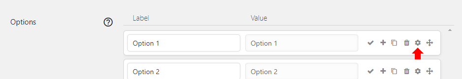Go to the option settings