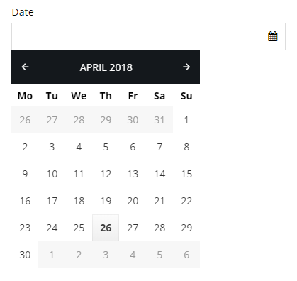 Date element example