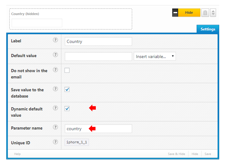 Dynamic default value country