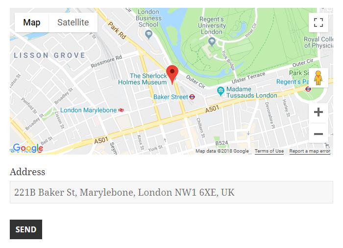 Google Maps marker to address