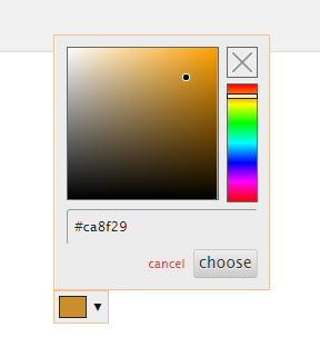 An example of the Quform colorpicker