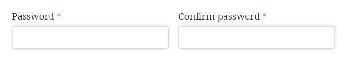 Confirm password field